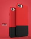 Калъф DUZHI за Apple iPhone 7PLUS,Черно с Червено