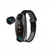Смарт часовник T89- 26mm,Комплект Слушалки IP67,Черен/Сребрист