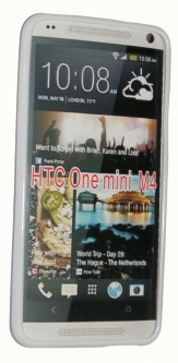 Силиконов гръб ТПУ за HTC One Mini M4 Бял