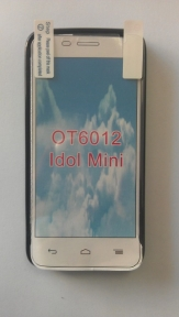 Твърд гръб за Alcatel One Touch Idol mini + Протектор Черен
