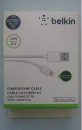 Belkin Lightning to USB Cable - USB кабел за iPhone 5, iPhone 5S, iPhone 5C, iPhone 6, iPhone 6 Plus, iPod Touch 5, iPod Nano 7, iPad 4 и iPad Mini, iPad mini 2, iPad mini 3