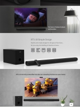 Bluetooth Audio Soundbar Home Remax Theater RTS-10,Черен